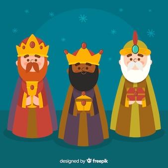 Tre re sullo sfondo