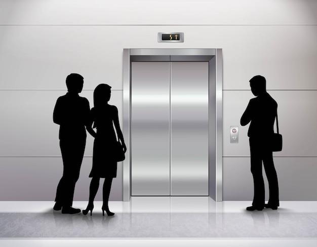 Tre sagome di persone di sesso maschile e femminile in piedi