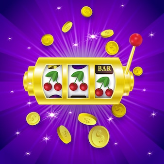 Tre segni ciliegia sul display delle slot machine