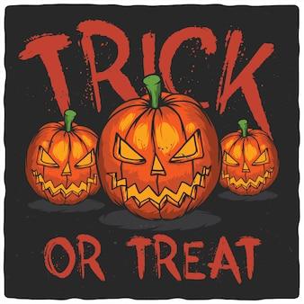 Tre zucche di halloween