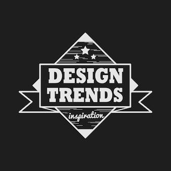 Trend design distintivo logo vettoriale