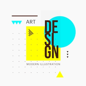 Trendy design minimalista forma geometrica