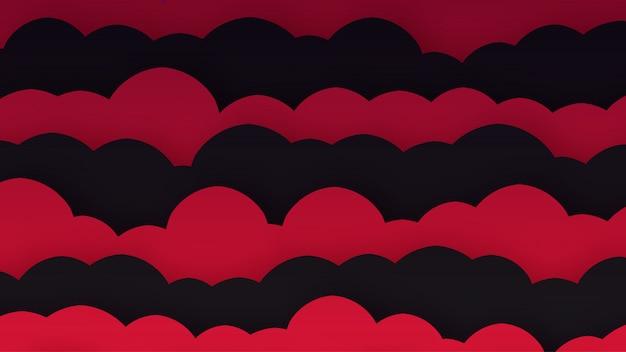 Trendy paper cut background per il tuo business e pubblicità