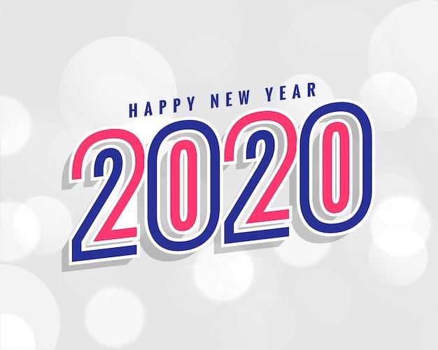 Trendy sfondo del nuovo anno 2020 in stile
