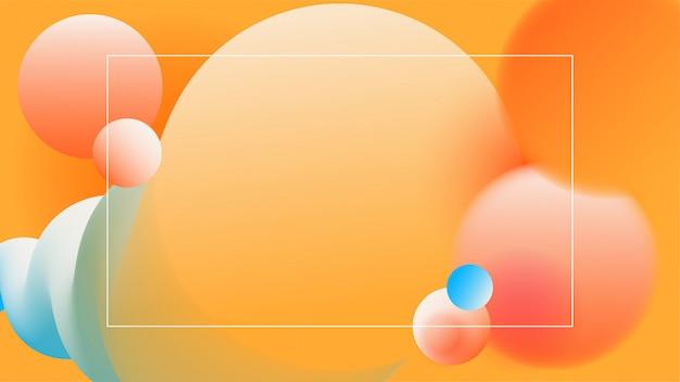Trendy vibrante sfondo gradiente
