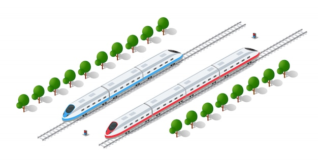 Treno veloce moderno ad alta velocità