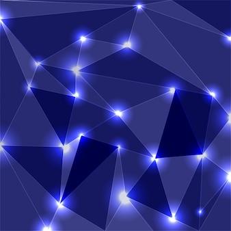 Triangoli con sfondo luminoso apice