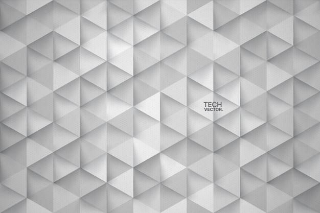 Triangoli di tecnologia 3d sfondo astratto