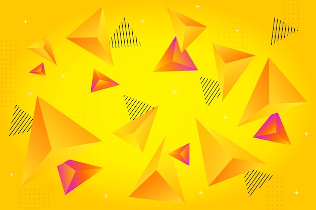 Triangolo 3d con colori vivaci