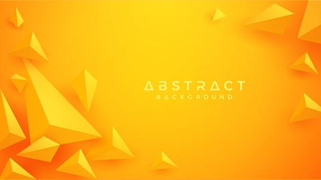 Triangolo 3d sfondo arancione e giallo.