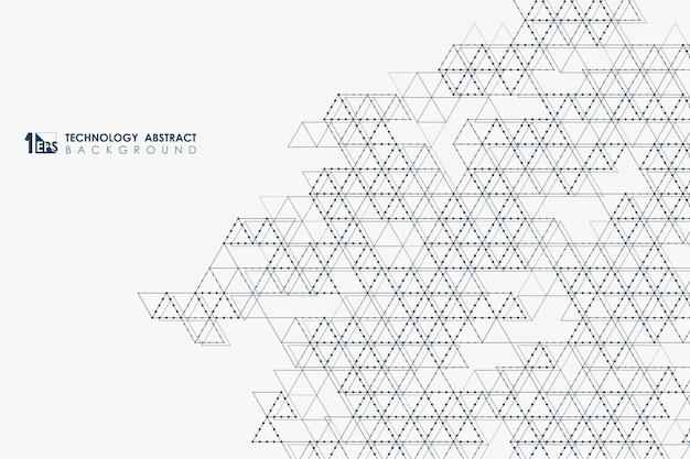 Triangolo astratto modello di tecnologia