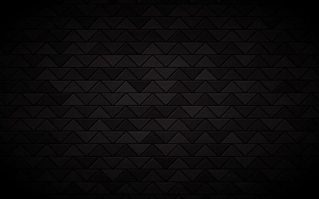 Triangolo astratto sfondo nero