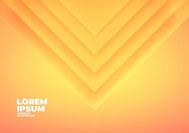 Triangolo astratto si sovrappongono sfondo giallo