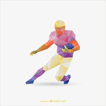 Triangolo football americano disegno vettoriale