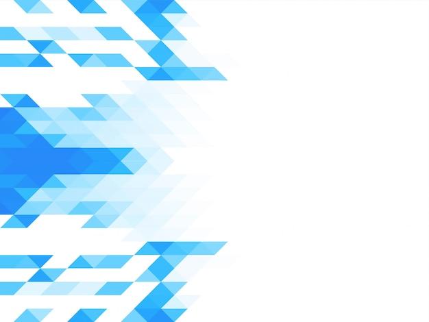 Triangolo modello elegante sfondo a mosaico