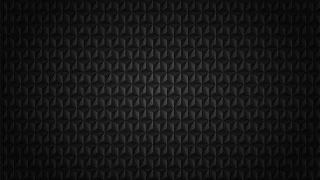 Triangolo scuro modello 3d sullo sfondo