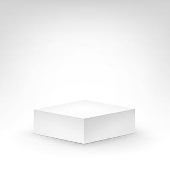 Tribuna bianca del podio su fondo bianco