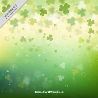 Trifogli bokeh sfondo verde
