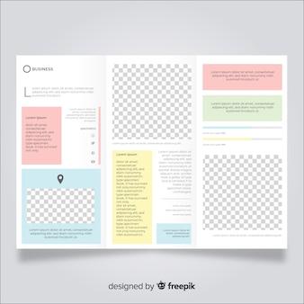 Trifold modello di brochure aziendale