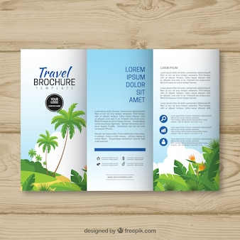 Trifold modello di brochure di viaggio