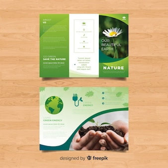 Trifold nature flyer template