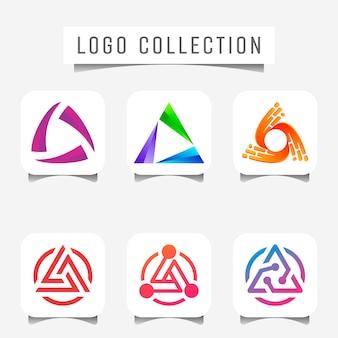Trinity logo tecnologia concetto digitale.