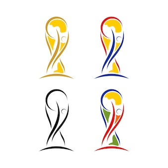 Trofeo di calcio coppa del mondo astratto