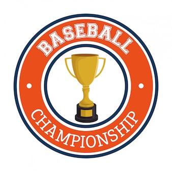 Trofeo etichetta sport club di baseball