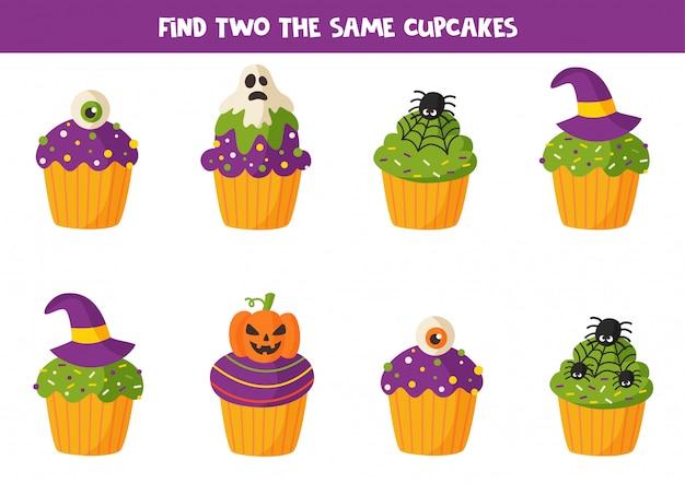 Trova due dolcetti uguali per halloween.