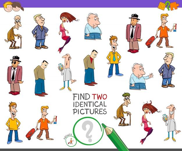 Trova il gioco educativo di 2 immagini identiche per bambini