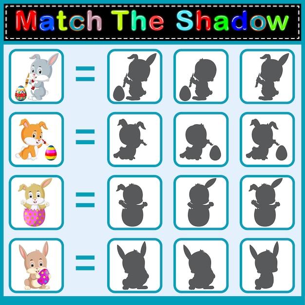 Trova l'ombra corretta del coniglio