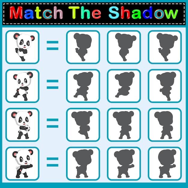 Trova l'ombra corretta del panda