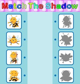 Trova l'ombra corretta dell'ape
