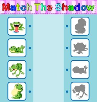 Trova l'ombra corretta della rana