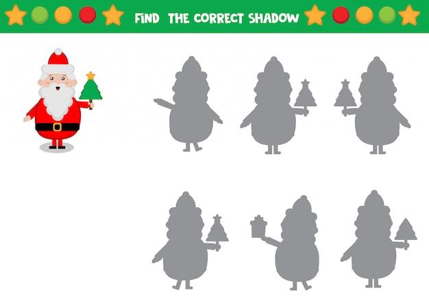 Trova l'ombra corretta di babbo natale