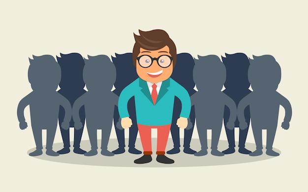 Trova la persona giusta per il concetto di lavoro