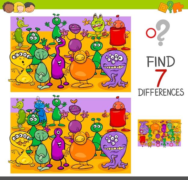 Trova le differenze con i personaggi alieni