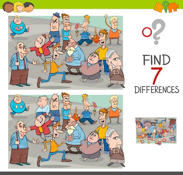 Trova le differenze di gioco con personaggi delle persone