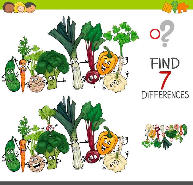 Trova le differenze gioco con caratteri vegetali