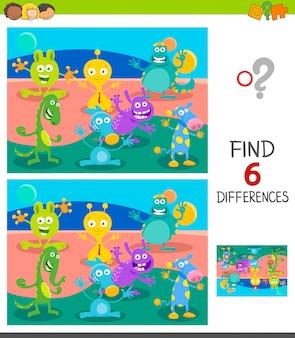 Trova le differenze gioco educativo per bambini