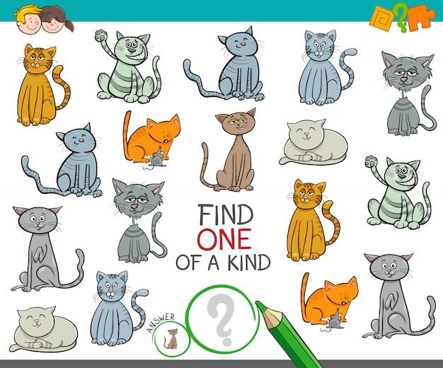 Trova un'immagine di un tipo con i gatti