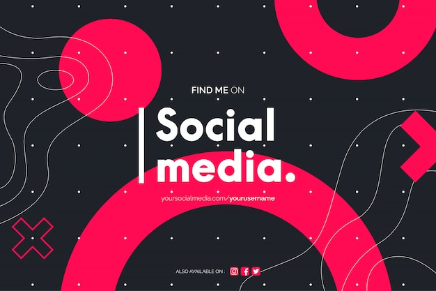 Trovami sullo sfondo dei social media