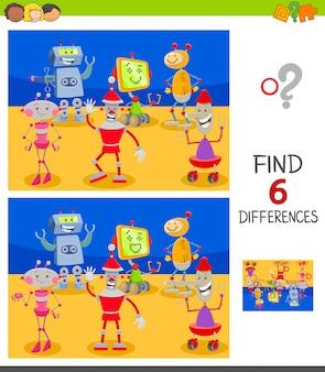 Trovare differenze gioco educativo per bambini