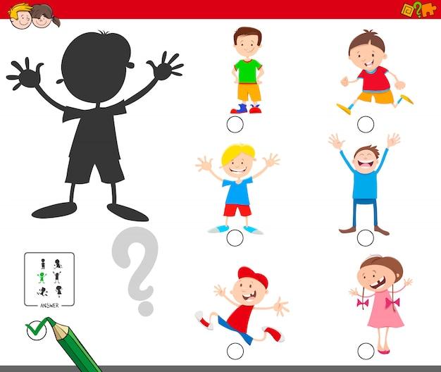 Trovare il gioco educativo delle ombre per i bambini