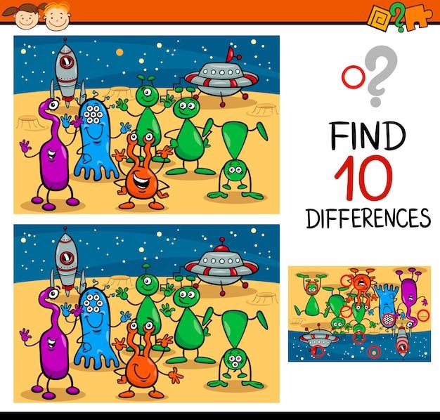 Trovare le differenze di gioco del fumetto