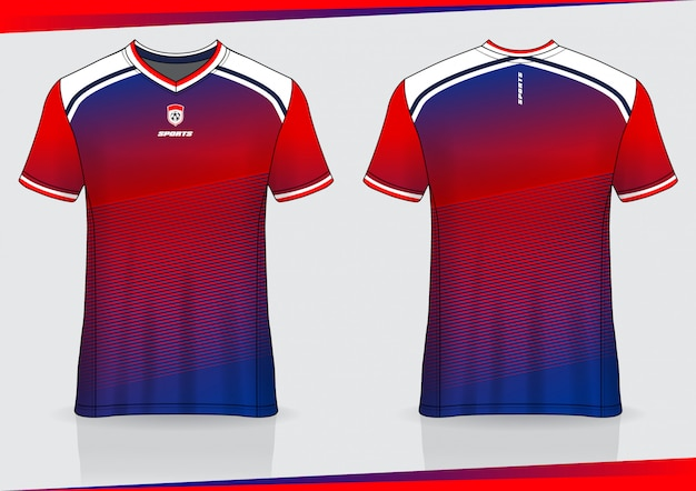 Tshirt sport calcio jersey design modello