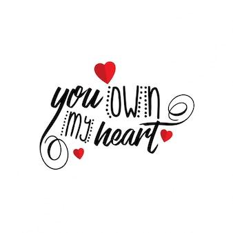 Tu possiedi il mio cuore