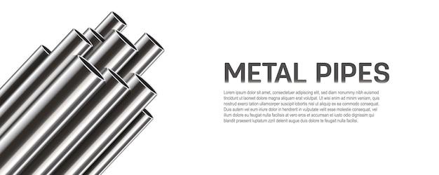 Tubi di acciaio, alluminio, metallo, pila di tubi, pvc.