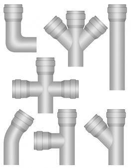 Tubi di plastica industriale.