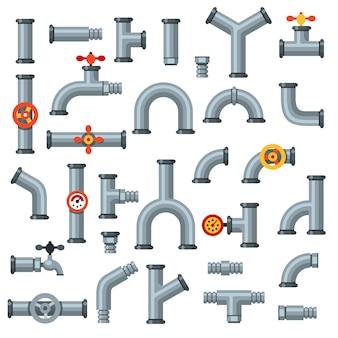 Tubi piatti. tubo dell'olio con manometro, manometro a tubo metallico e set di connettori idraulici di scarico